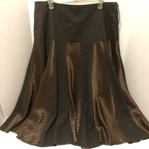 Brown Skirt - Flared Panels, A Line, European